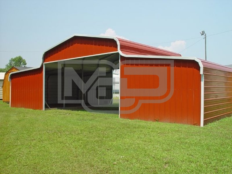 Metal Barn | Regular Roof | 42W x 21L x 10H | Ag Barn