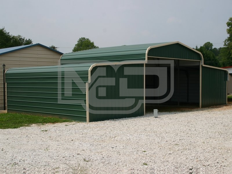 Steel Storage Barn | Regular Roof | 42W x 26L x 9H | Barns