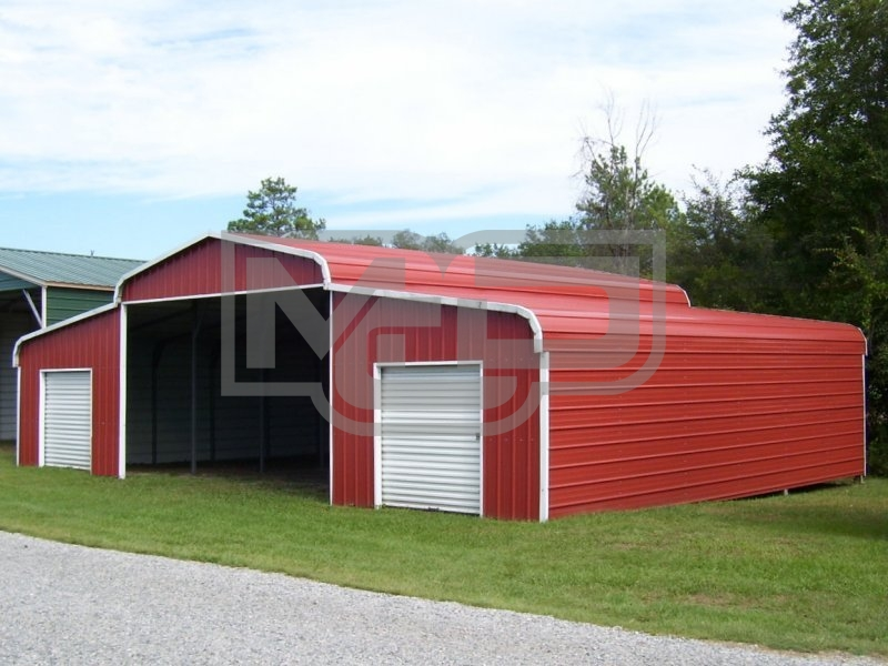 Metal Horse Barn | Regular Roof | 44W x 26L x 9H | Ag Barn
