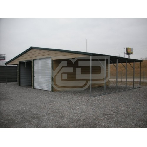 Metal Barn Building | Vertical Roof | 46W x 26L x 11H | Single Slope Roof