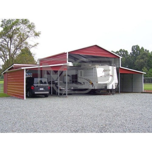 Metal Barn Shed | Boxed Eave Roof | 44W x 26L x 12H | Carolina Barn