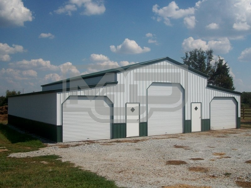 Deluxe Carolina Barn | Vertical Roof | 44W x 21L x 12H | Metal Barn