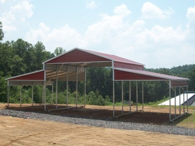 Steel Barn Shelter | Boxed Eave Roof | 42W x 21L x 12H | Barn Shed