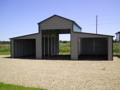 Metal Horse Barn | Boxed Eave Roof | 36W x 26L x 12H | Shed