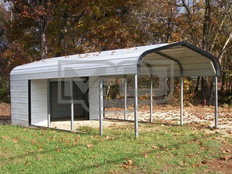 Carport | Regular Roof | 12W x 26L x 6H Utility Carport