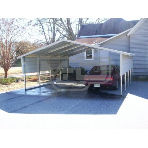 Carport | Boxed Eave Roof | 18W x 21L x 6H