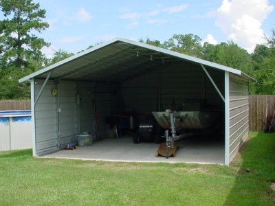 Carport | Boxed Eave Roof | 18W x 21L x 7H