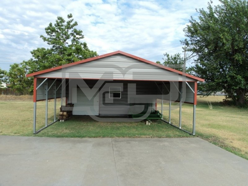 Carport | Regular Roof | 20W x 26L x 7H Utility Carport Combo