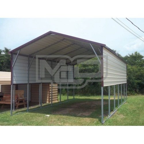 Carport | Boxed Eave Roof | 18W x 31L x 11H | RV Carport