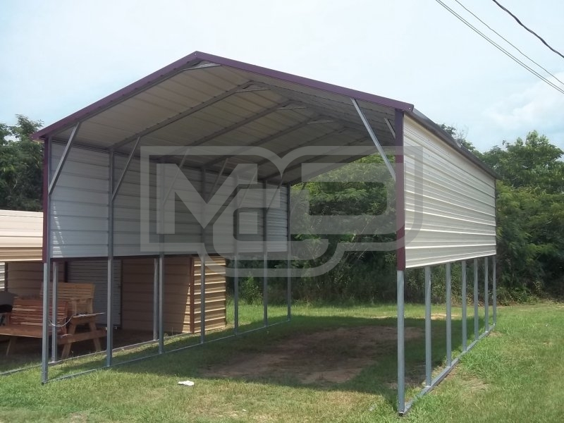 ... A Frame Boxed Eave RV Carport 18u0027Wx31u0027Lx11u0027H With (2) 3u0027 Wide Panel On  Both Side Walls.. Product #: CPT 0030 Regular Price: $3,035.00 $3,035.00  99997