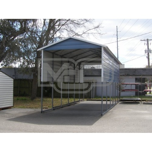 Carport | Boxed Eave Roof | 12W x 31L x 12H | 4 Panels | 2 Gables