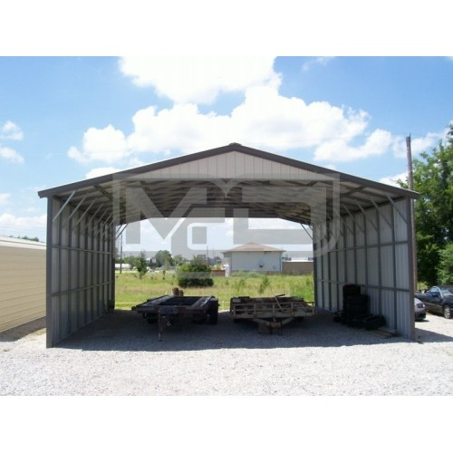 Carport | Vertical Roof | 30W x 36L x 12H Triple-Wide