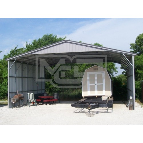 Carport | Vertical Roof | 30W x 26L x 12H Triple-Wide