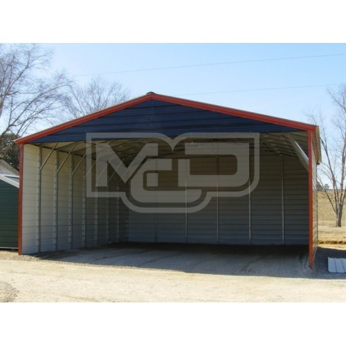Carport | Vertical Roof | 30W x 31L x 12H Triple-Wide
