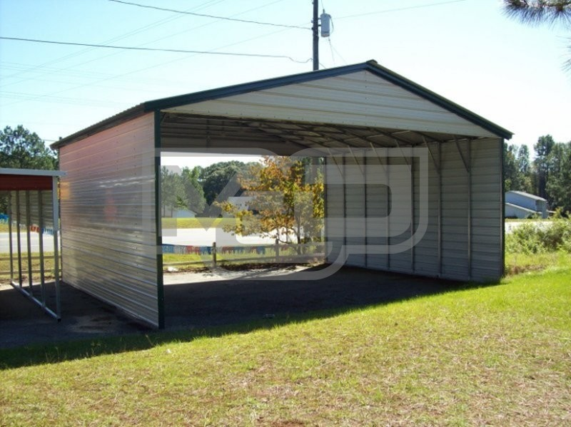 Carport | Vertical Roof | 30W x 26L x 10H | Triple-Wide