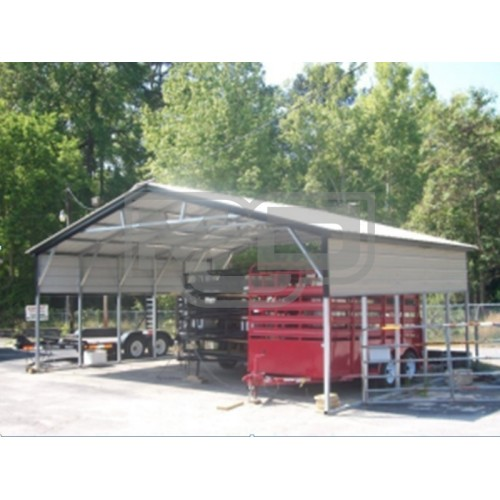 Carport | Vertical Roof | 26W x 21L x 8H Triple-Wide