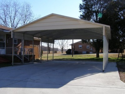 Carport | Boxed Eave Roof | 20W x 26L x 8H` | 2 Gables | 2 18
