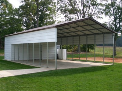 Carport | Vertical Roof | 20W x 51L x 8H