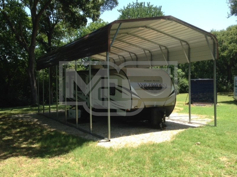 Regular Roof | 18W x 36L x 12H | Metal RV Camper Shelters