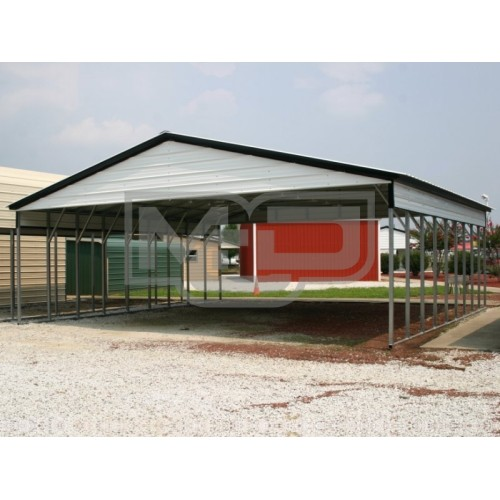 Carport | Vertical Roof | 30W x 36L x 8H Triple-Wide Shelter