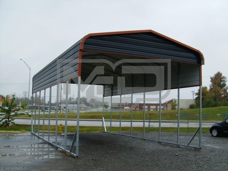 Economy Enclosed Carport : Carport regular roof w l h rv motorhome
