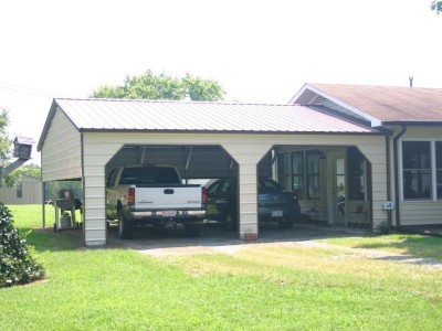 Carport | Vertical Roof | 24W x 26L x 8H` | 1 Extended Gable | More...