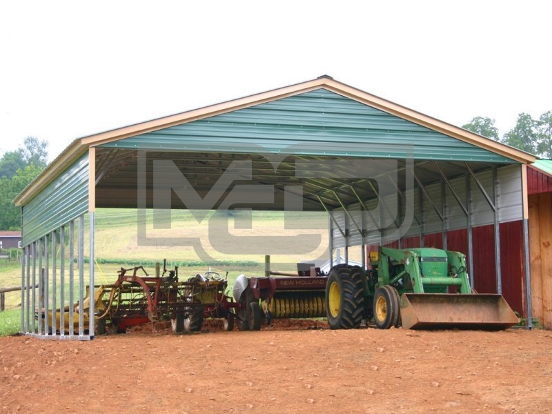 Carport | Vertical Roof | 30W x 36L x 8H | Triple-Wide