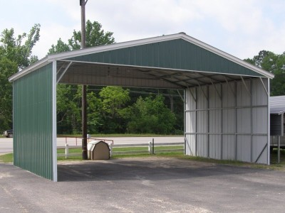 Carport | Vertical Roof | 30W x 21L x 10H Triple-Wide