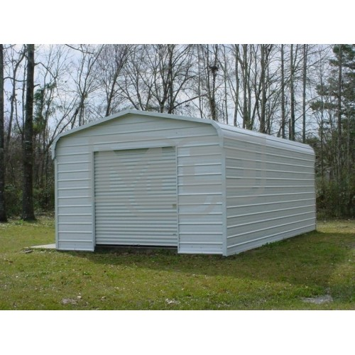 Garage | Regular Roof | 12'W x 21'L x 8`H |  Single Car Garage