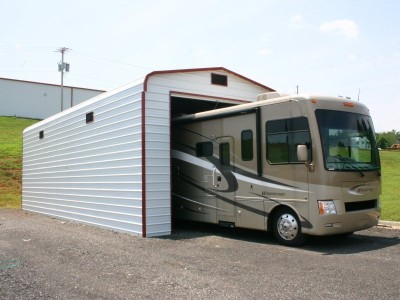 Garage | Regular Roof | 14W x 36L x 13H |  Metal RV Garage