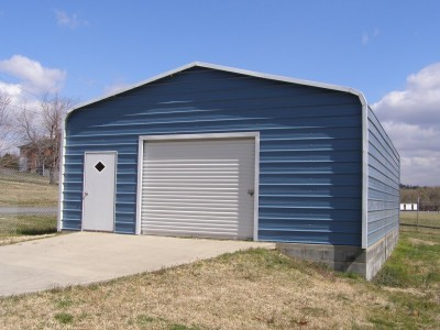 Garage | Regular Roof | 22W x 31L x 10H |  Metal Garage Building