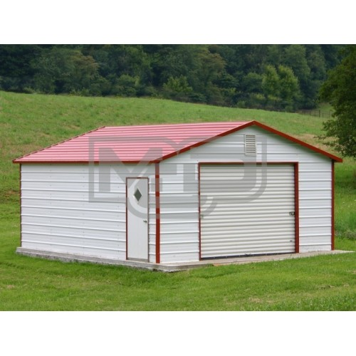Garage | Boxed Eave Roof | 12W x 21L x 7H |  Backyard Garage