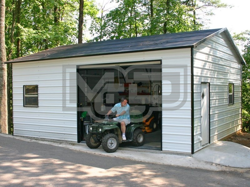 Garage | Boxed Eave Roof | 18W x 26L x 9H |  Garage Storage Building