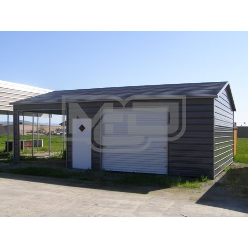 Garage | Boxed Eave Roof | 22W x31 L x 9H |  Boxed Eave Garage