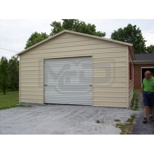 Garage | Boxed Eave Roof | 20W x 26L x 9H |  1-Car Garage