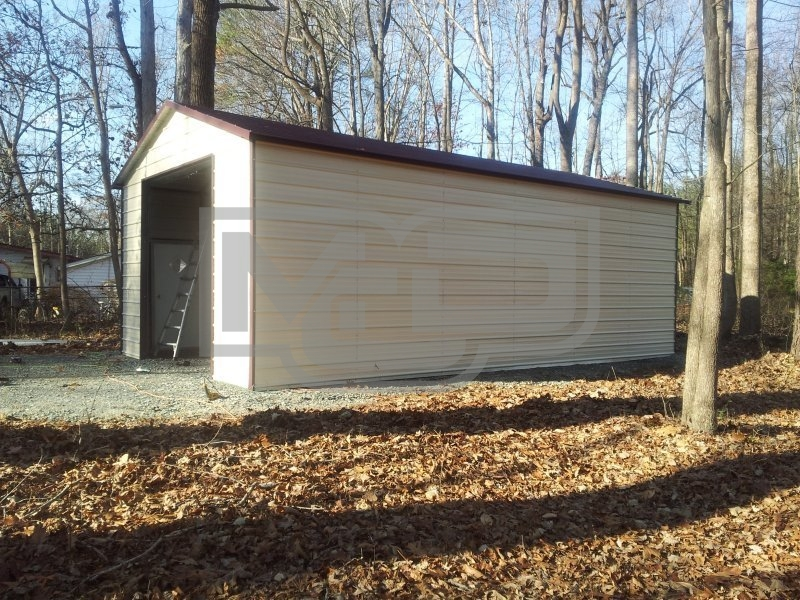 Garage | Boxed Eave Roof | 18W x 31L x 8H |  Single Car Garage