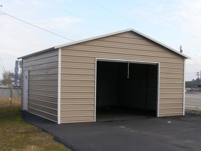 Garage | Boxed Eave Roof | 20W x 21L x 9H |  Metal Garage for 1 Car