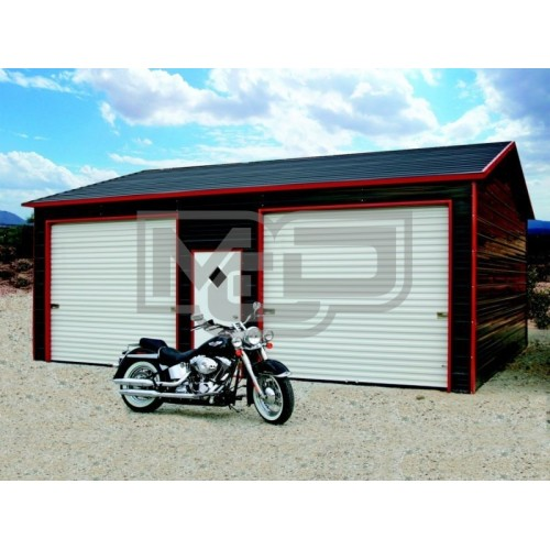 Garage | Boxed Eave Roof | 22W x 26L x 9H | Side Entry Garage