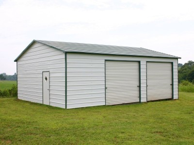 Garage | Boxed Eave Roof | 24W x 31L x 10H | Side Entry Worskhop