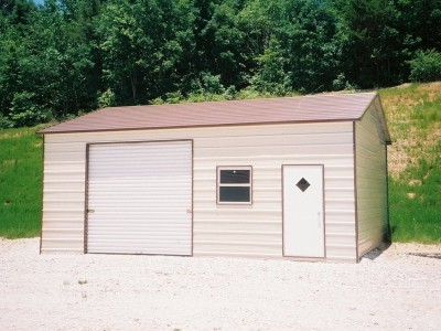 Garage | Boxed Eave Roof | 22W x 26L x 9H | Side Entry Enclosed Garage