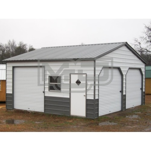 Garage | Vertical Roof | 22W x 21L x 9H | Metal Garage