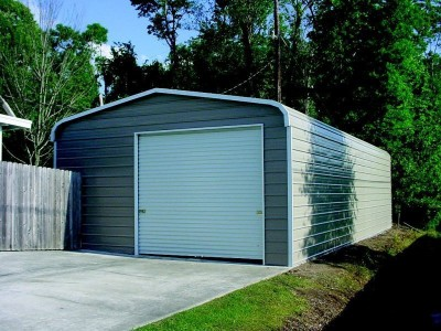 Garage | Regular Roof | 20W x 31L x 10H |  Enclosed Metal Garage
