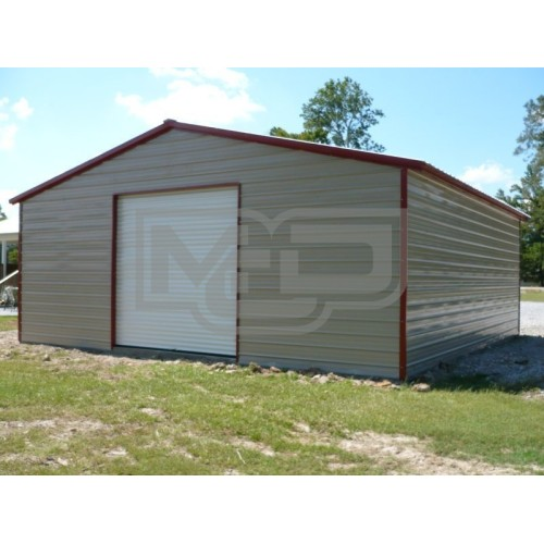 Metal Workshop | Vertical Roof | 24W x 26L x 10H | 1-Bay