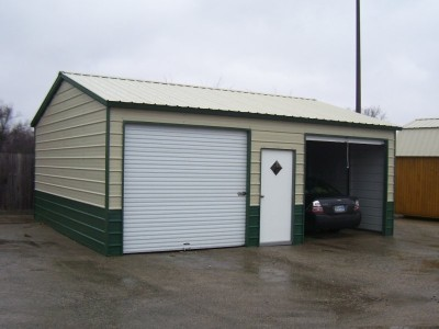 Metal Garage | Vertical Roof | 22W x 26L x 9H | Side Entry Copy