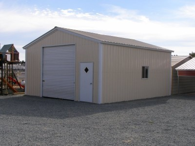 Steel Garage | Vertical Roof | 20W x 26L x 10H | Workshop
