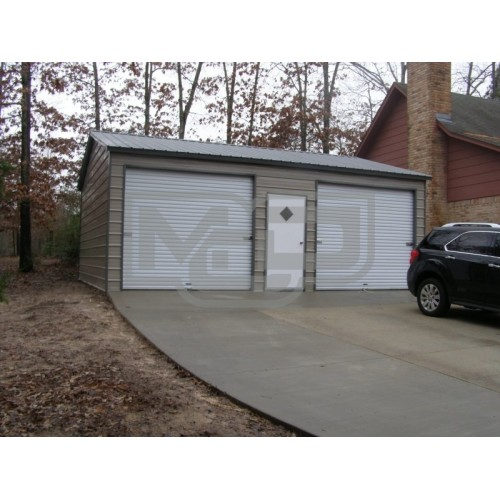 Side Entry Garage | Vertical Roof | 22W x 26L x 9H |  2-Car