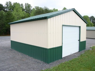All Vertical Garage | Vertical Roof | 18W x 26L x 9H | 1-Car