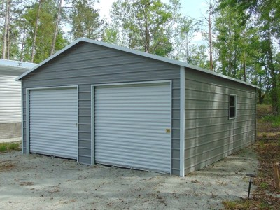 2-Car Garage | Boxed Eave Roof | 20W x 26L x 9H | Metal Garage