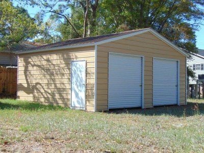 2-Car Garage | Vertical Roof | 22W x 26L x 9H | Enclosed Garage