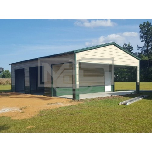 Pre-Fab Steel Building | Vertical Roof | 30W x 50L x 12H | Certified